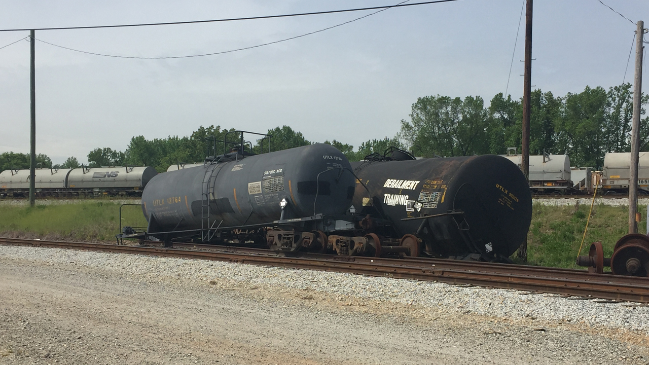 Rail cars derailed