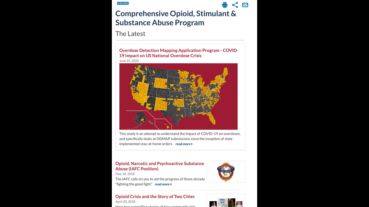 Comprehensive Opioid, Stimulant & Substance Abuse Program