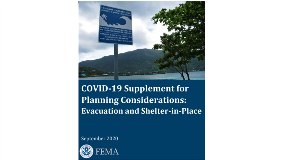 FEMA Releases COVID-19 Supplement to Planning Consideration: Evacuations and Shelter-in-Place