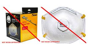 Counterfeit respirators warning
