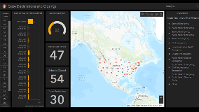 State declarations and closings dashboard