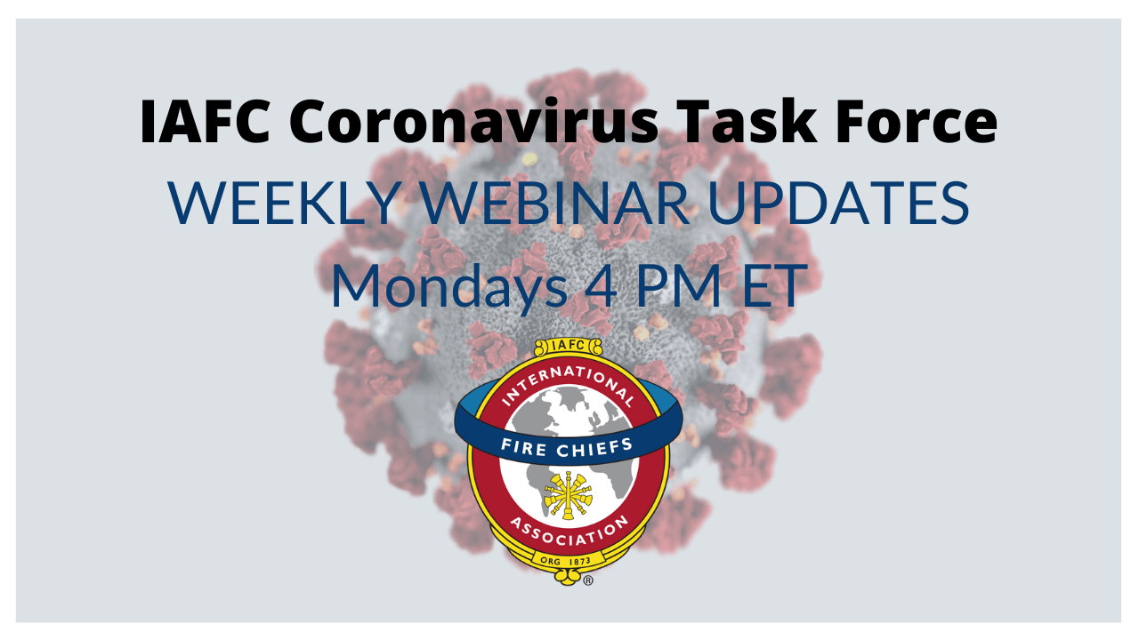 Weekly IAFC COVID-19 Task Force Webinar