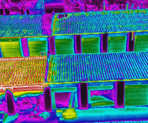 Infrared image of the storage warehouses.