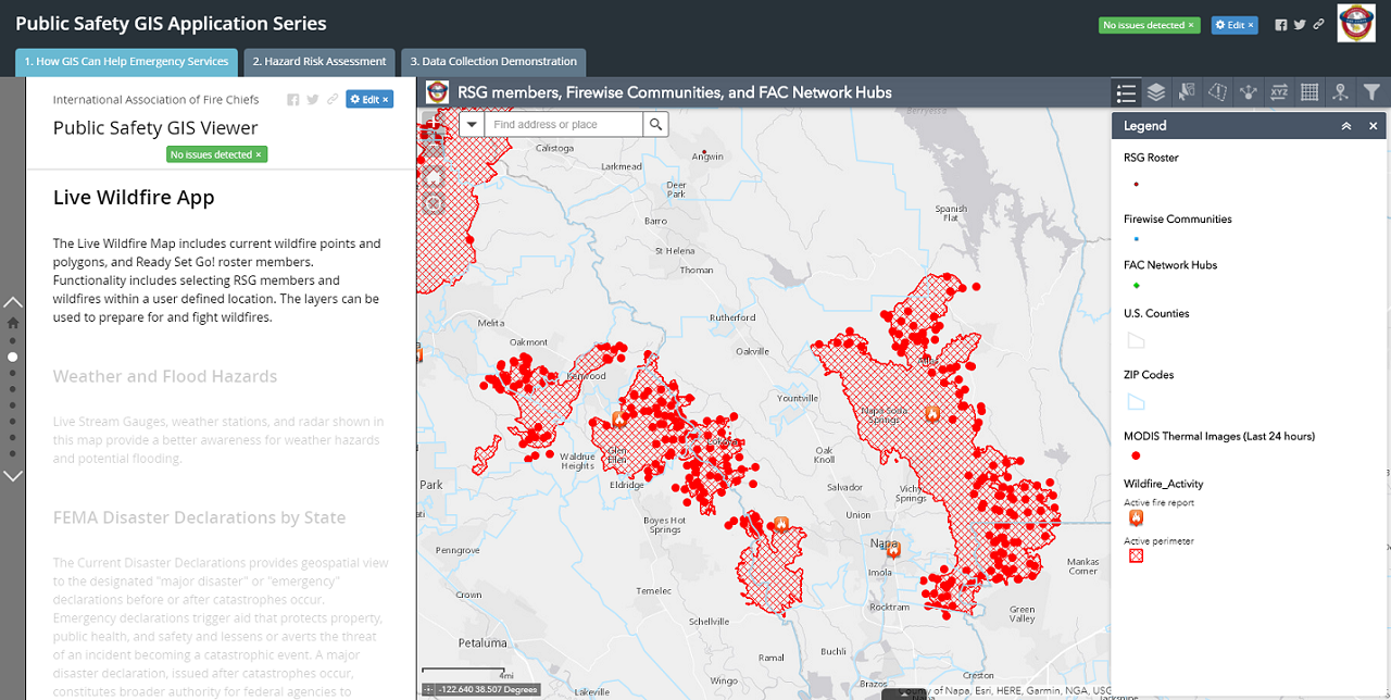 GIS View of Live Wildfires