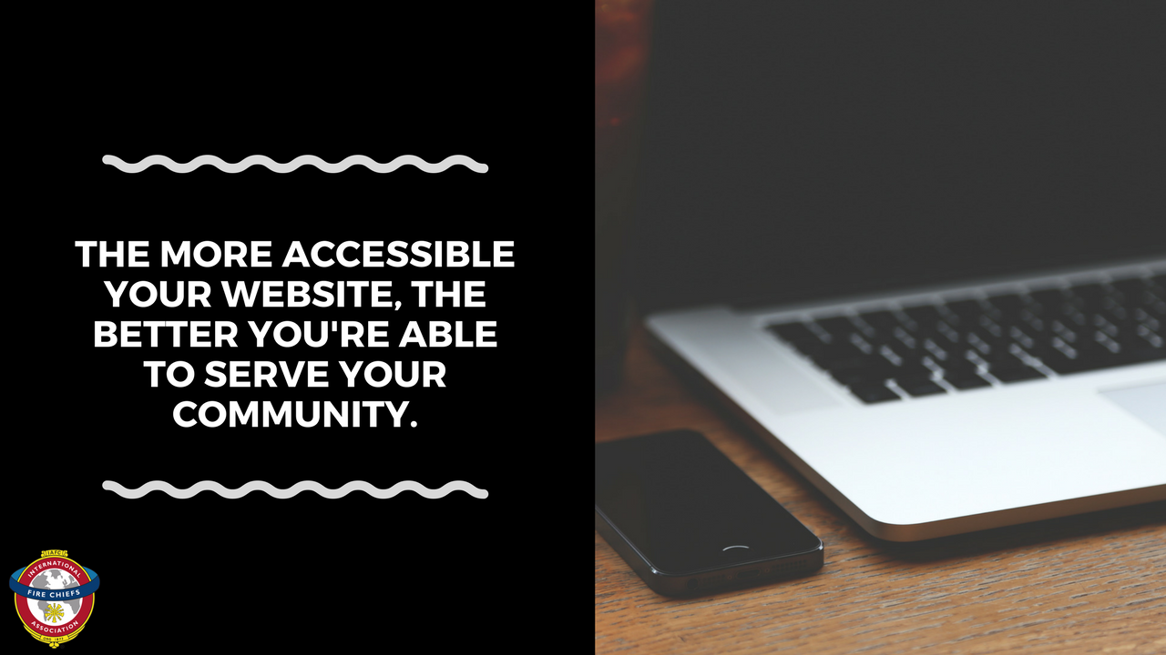 """""""The more accessible your website is, the better you're able to serve your community."""""""