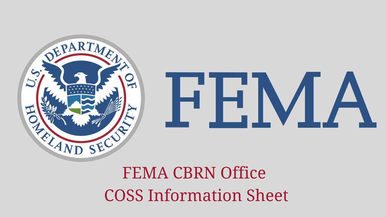FEMA CBRN Office COSS Information Sheet 1280x720