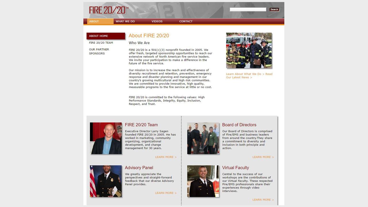 Fire 20/20 website