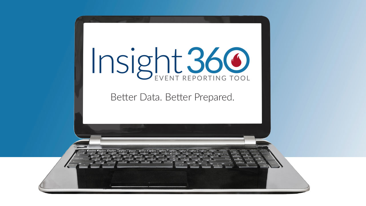 InSight360 Event Reporting Tool on a laptop