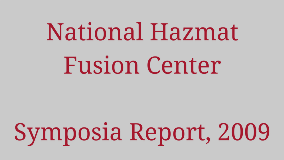 National Hazmat Fusion Center Symposia Report, 2009 1280x720