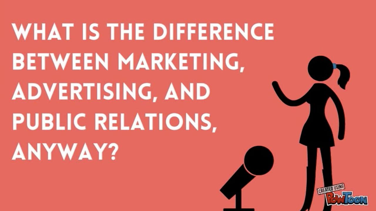 Video: PR vs marketing vs advertising