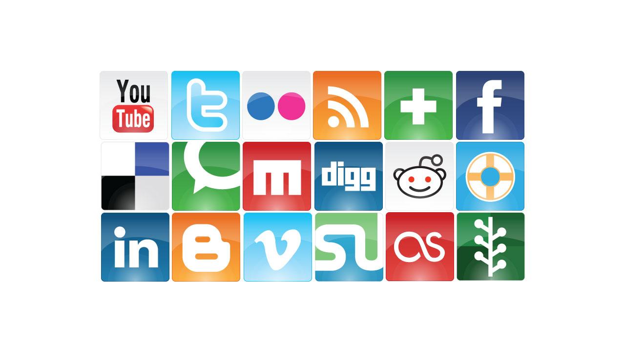 Various social media brands