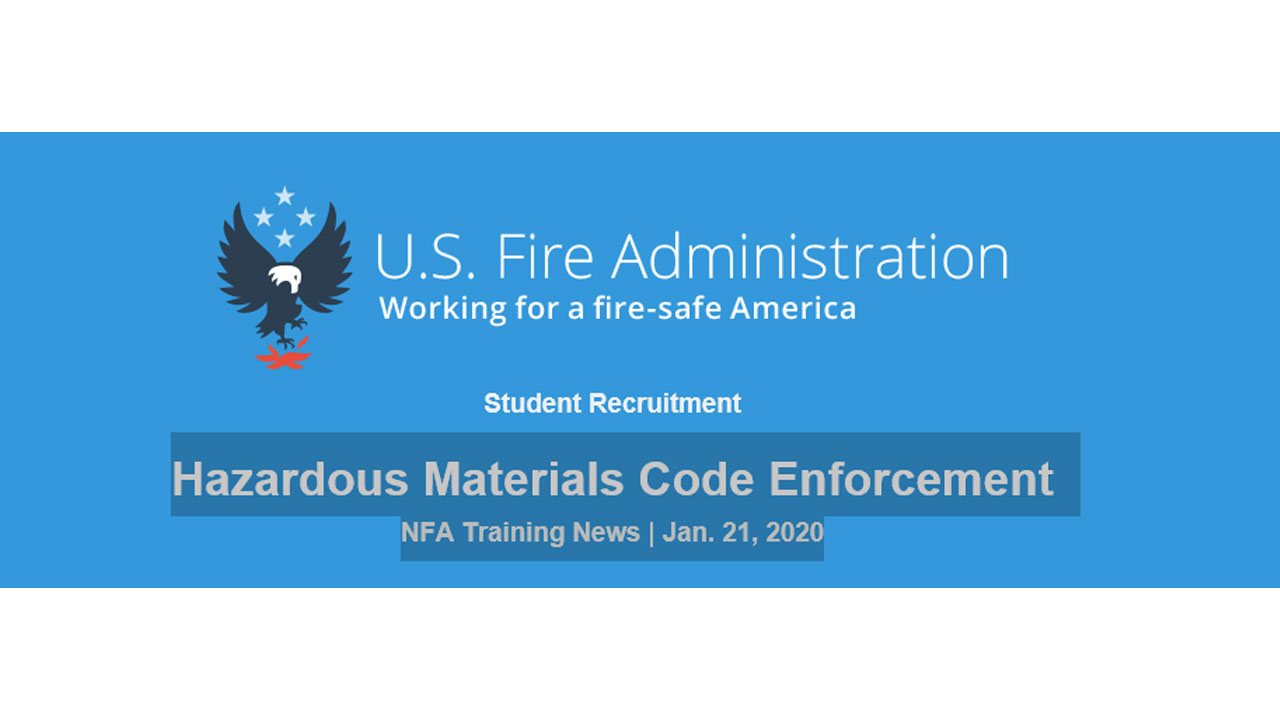 National Fire Academy Student Recruitment New 6-day Course P0615