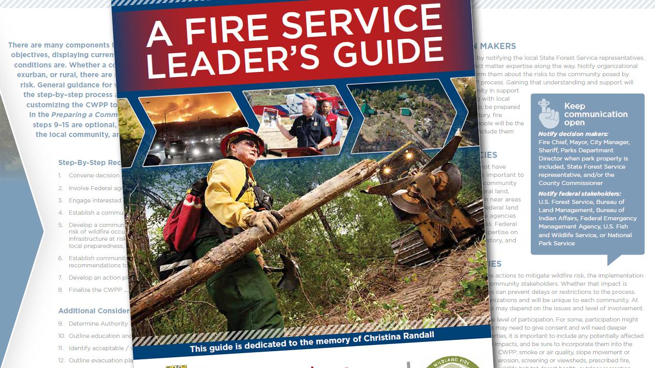 Community Wildfire Preparedness Plan - Fire Service Leader