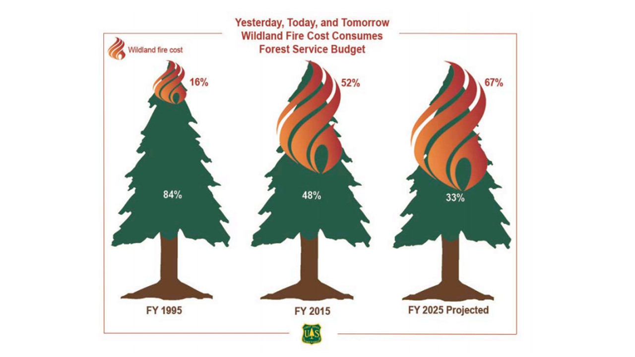 2015 Fire Budget Report - Wildland fire as a percentage of USFA