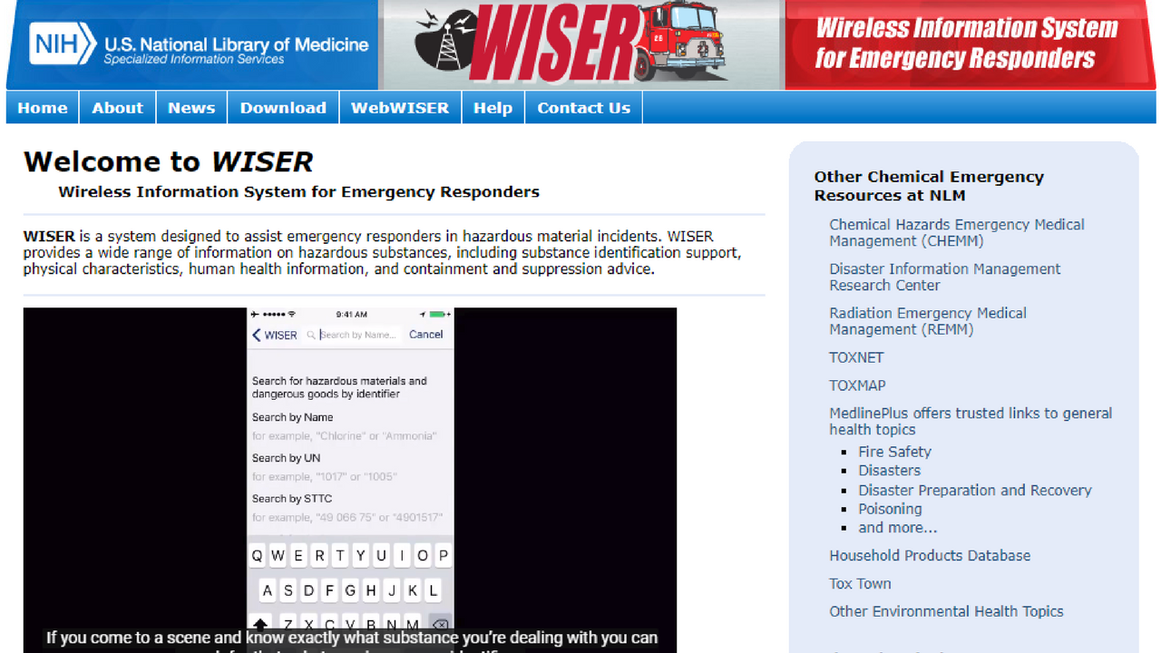 Wireless Information System for Emergency Responders (WISER)