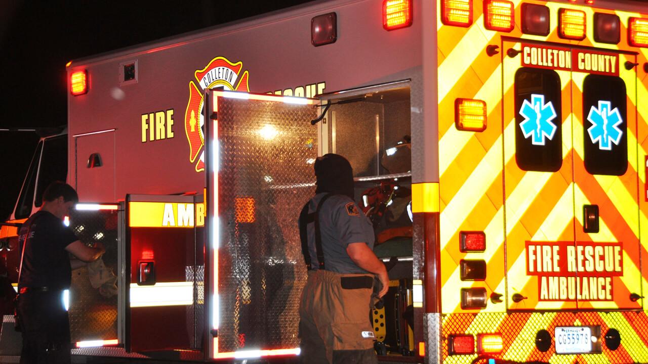 Ambulance at night
