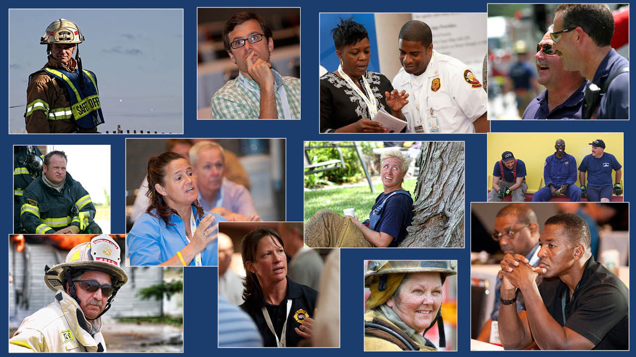 Faces of the fire and emergency service