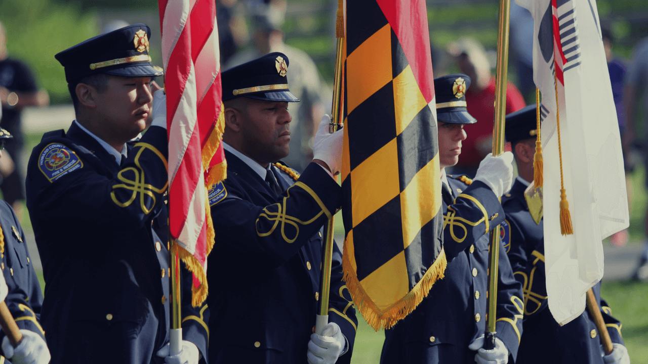Howard County, Maryland flag ceremony