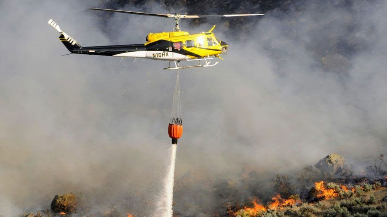 Aerial Helicopter Firefighting