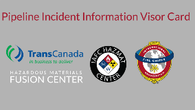Pipeline Incident Information Visor Card