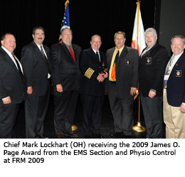 2009 James O. Page Award winner: Chief Mark Lockhart, Maryland Heights (OH)