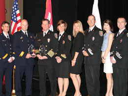 2012 Heart Safe Award Recipients: (left to right) Large Community - Howard County (MD) Department of Fire and Rescue; Small Community - Hilton Head Island (SC) Fire and Rescue